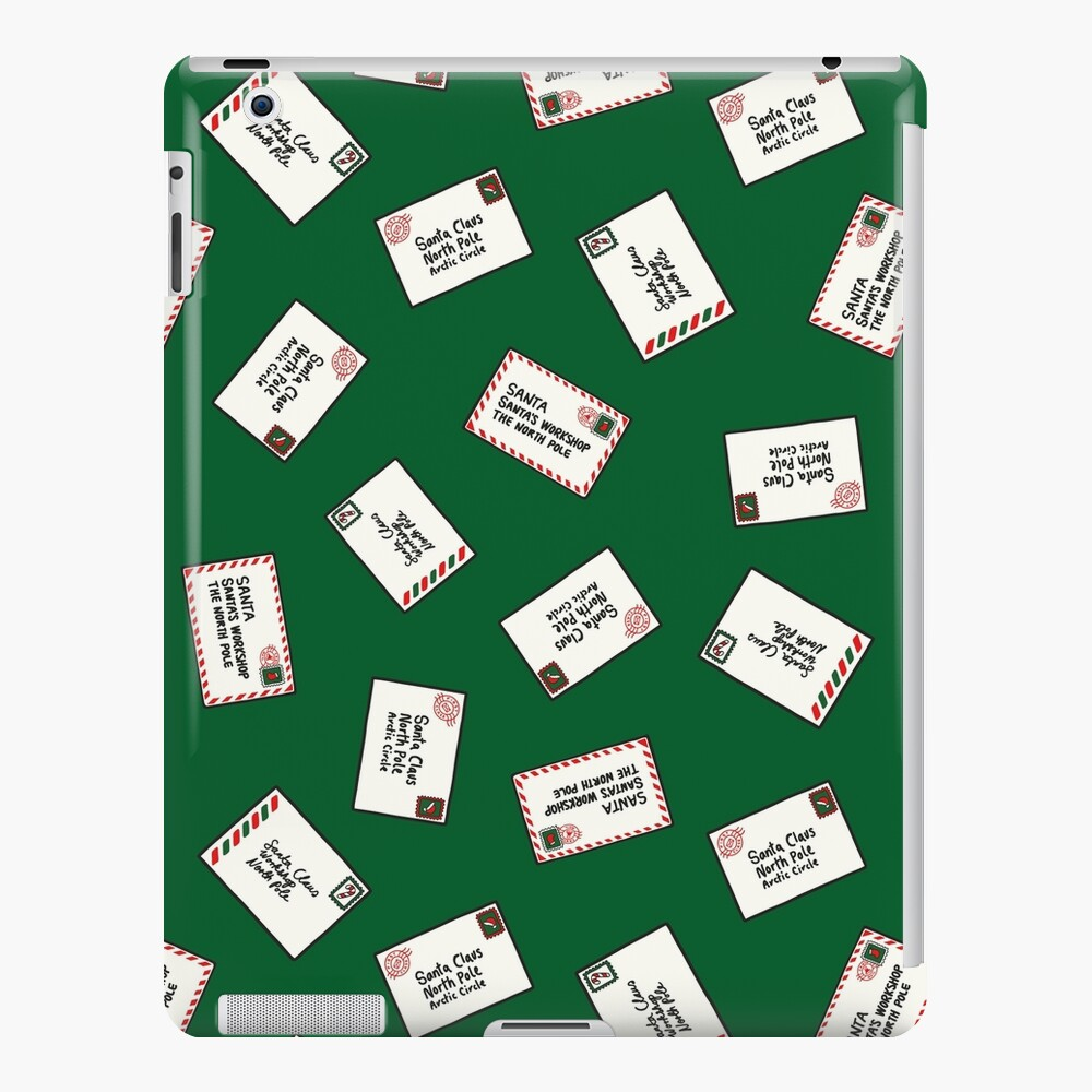 Letters to Santa in Green iPad Snap Case