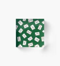 Letters to Santa in Green Acrylic Block