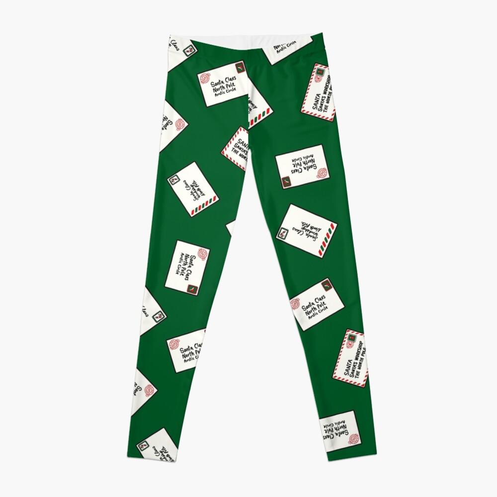Letters to Santa in Green Leggings