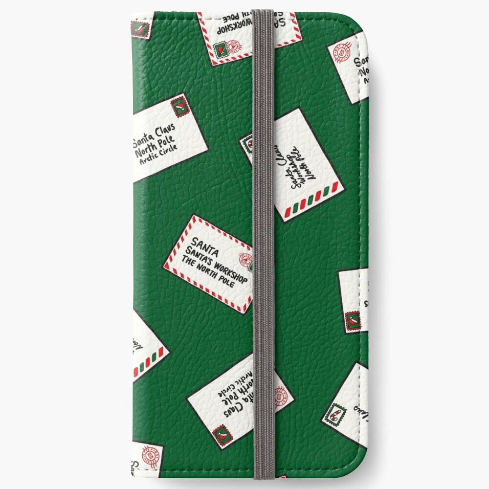 Letters to Santa in Green iPhone Wallet