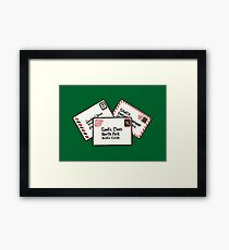 Letters to Santa in Green Framed Print