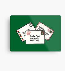 Letters to Santa in Green Metal Print