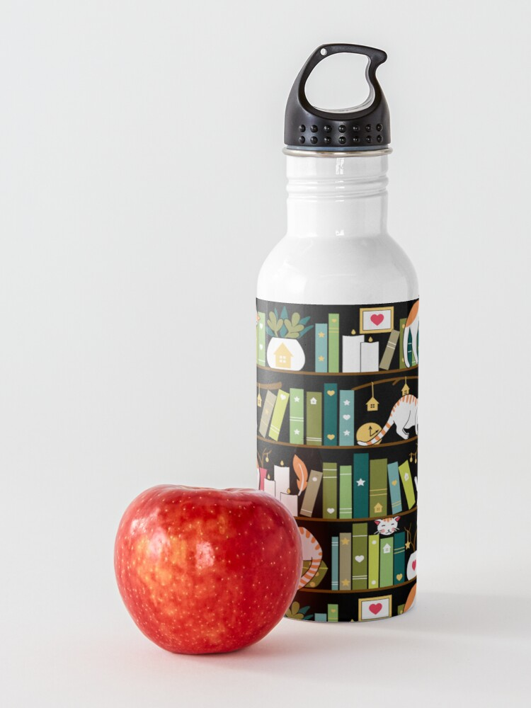 Alternate view of Library cats Water Bottle