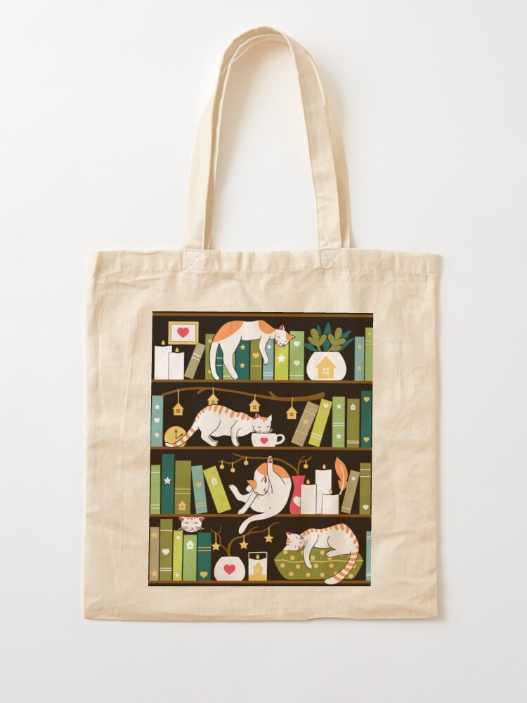Alternate view of Library cats Tote Bag