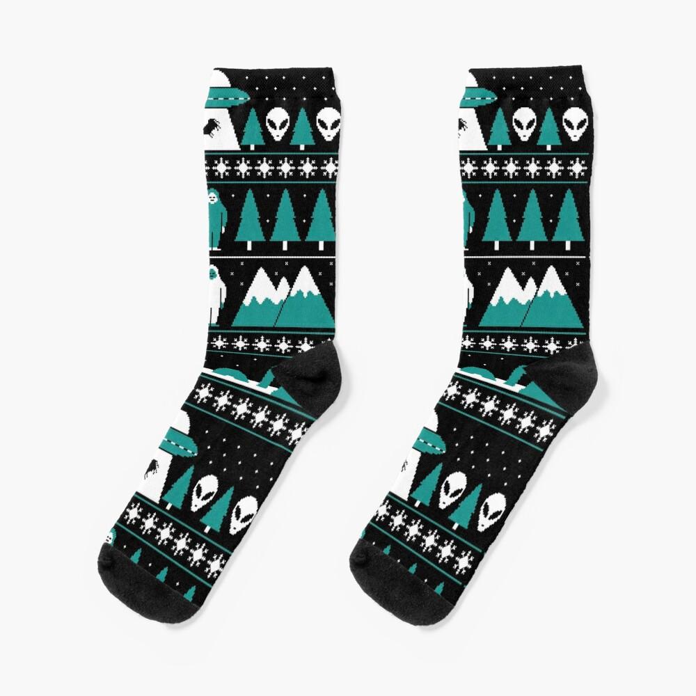 Paranormal Christmas Sweater Socks
