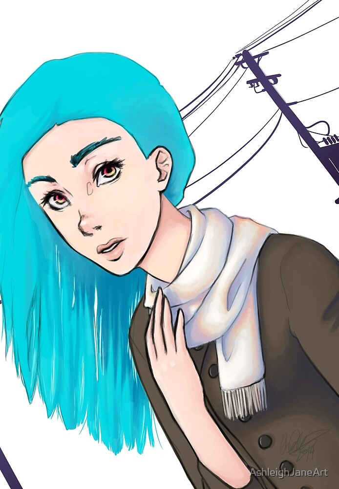 Blue Electric by AshleighJaneArt