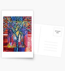 'Blue Trees in an Abstract Forest' Postcards