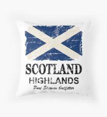 Scotland Flag - Vintage Look Throw Pillow