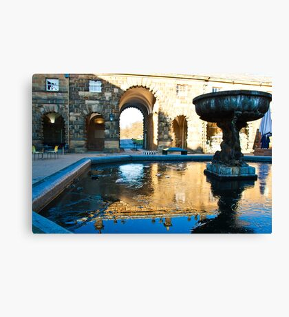 Court Yard in  Chatsworth Canvas Print