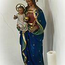 Madonna and Child Statue in Vöhlinschloss Bavaria by Elzbieta Fazel
