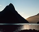 Mitre Peak sunset by Odille Esmonde-Morgan