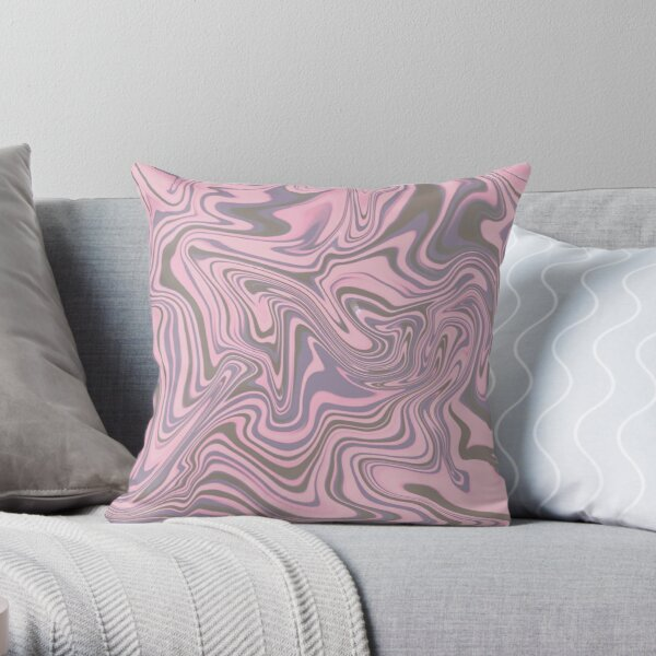 Pink Abstract Swirl Throw Pillow