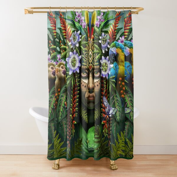 Heart of the Amazon Shower Curtain