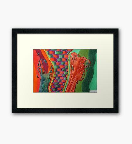 327 - STRING ART VI - DAVE EDWARDS - COLOURED PENCILS - 2011 Framed Print