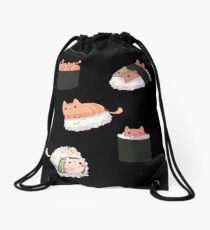 Sushi Cats Drawstring Bag