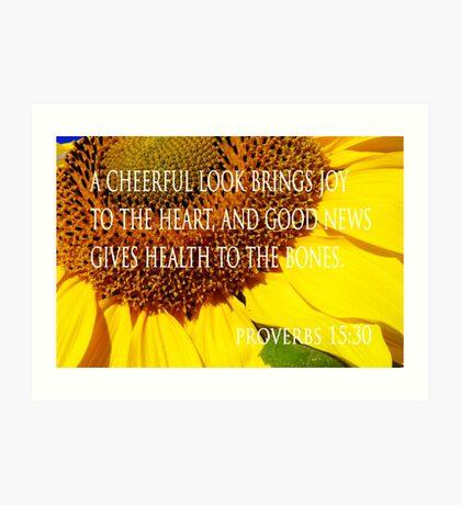 cheerful look sunflower card Art Print