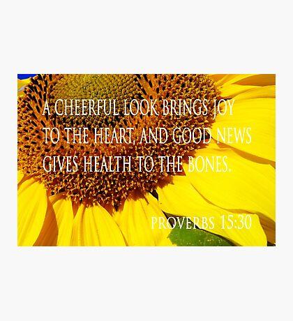 cheerful look sunflower card Photographic Print