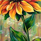 'Stand', original painting of Rudbeckia  by DawnEaton