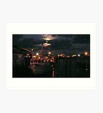 Moon Over Galilee - Rhode Island Art Print