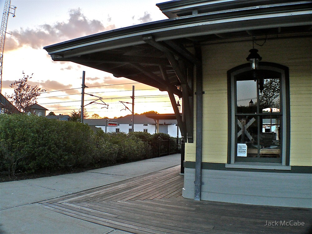 Sun sets  on the Depot at Kingston - 2010 by Jack McCabe