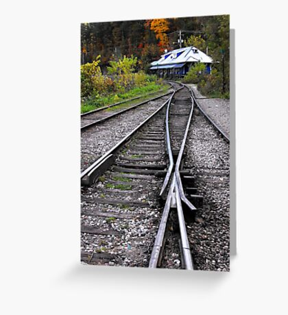 Diner in the distance Greeting Card