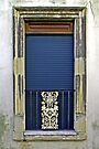 Blue Window - Lecce Italy by Debbie Pinard