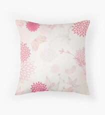 Pastel flowers background Throw Pillow