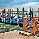 Gondolas at rest..waiting for the rain to stop. by wilkor