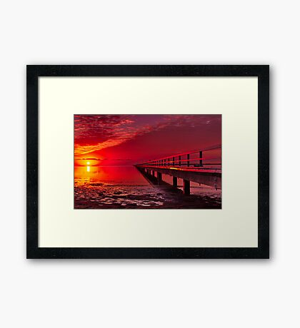 """Swan Bay Red"" Framed Print"