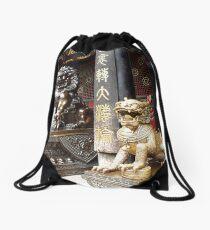 Chinese Temple Drawstring Bag