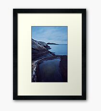 Cliffs by the Sea Framed Print
