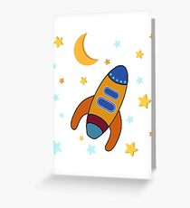 Space Rocket Greeting Card