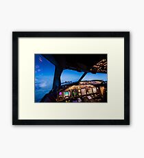 Goodnight from the cockpit Framed Print