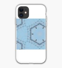 Hexagons of wire iPhone Case