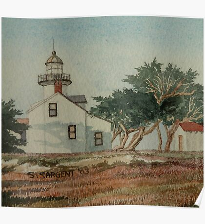 Pt Pinos Lighthouse Poster