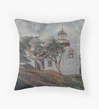 Point Pinos Lighthouse #3 Throw Pillow