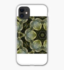 Textured Green Leaves iPhone Case