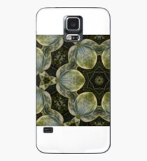 Textured Green Leaves Case/Skin for Samsung Galaxy