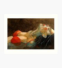 Soutien-gorge rouge  Art Print