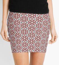 Plush Red Floral Mini Skirt