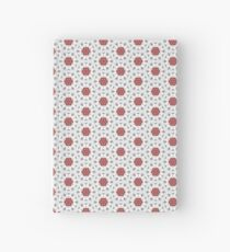 Lace Flowers on Grey Hardcover Journal