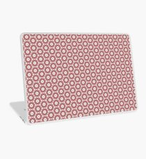 Grey, Red and White Laptop Skin