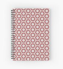 Grey, Red and White Spiral Notebook