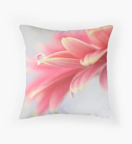 Pink droplet Throw Pillow