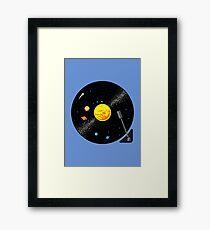 Solar System Vinyl Record Framed Print