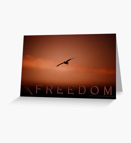 Freedom 2 © Vicki Ferrari Photography Greeting Card