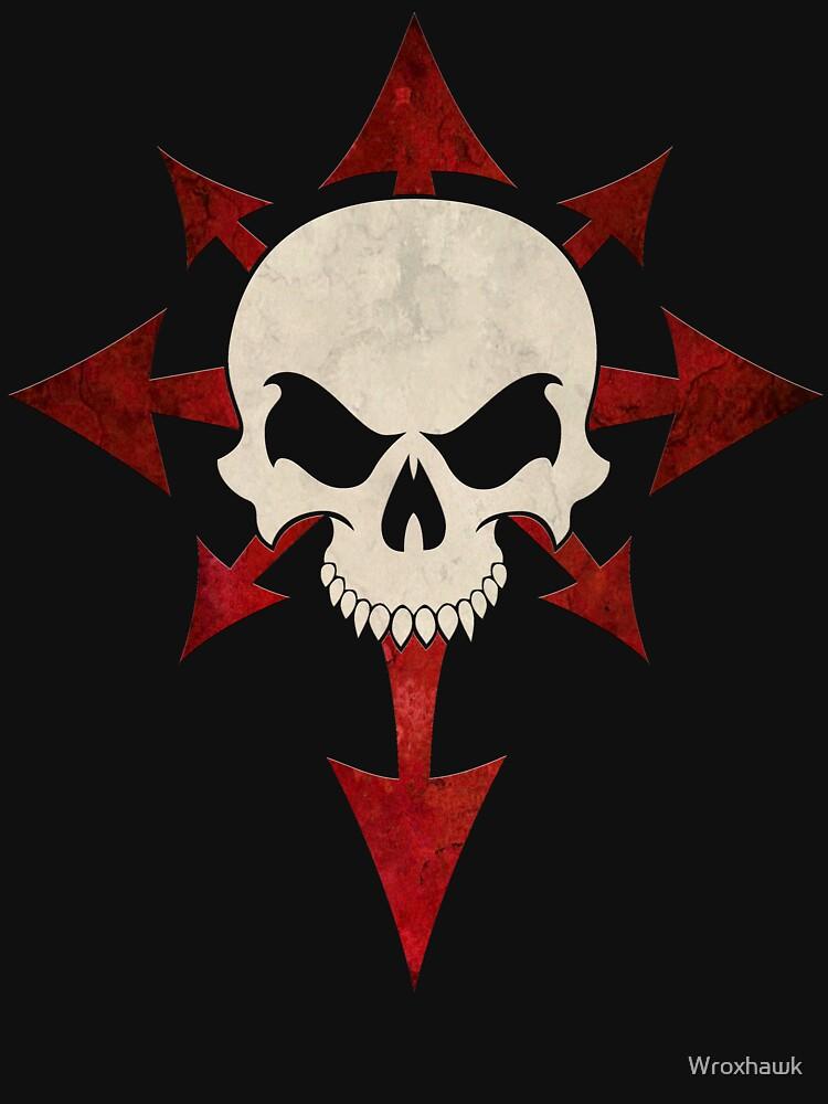 """Skull 'n' Chaos"" T-shirt by Wroxhawk | Redbubble"