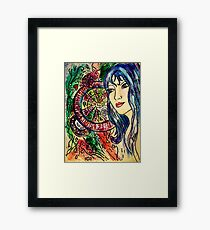Mapping out Her World... Framed Print
