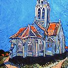 Van Gogh's Church at Auveres by Ray  Johnstone