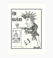 Cartoon Johnny Rotten [Lydon] Art Print
